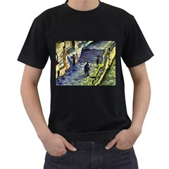 Banks Of The Seine Kpa Men s T Shirt (black) (two Sided)