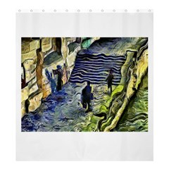 Banks Of The Seine KPA Shower Curtain 66  x 72  (Large)