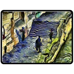 Banks Of The Seine Kpa Fleece Blanket (large)