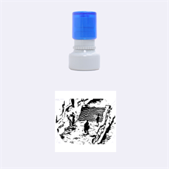 Banks Of The Seine KPA Rubber Round Stamps (Small)