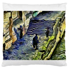 Banks Of The Seine KPA Large Flano Cushion Cases (Two Sides)