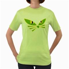 Cat Eyes Women s Green T Shirt