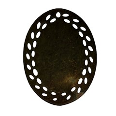 Urban Grunge Oval Filigree Ornament (2 Side)