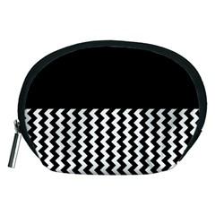 Blackandwhitechevron6000 Accessory Pouches (medium)