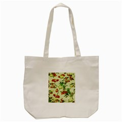 Vintage Style Floral Design Tote Bag (Cream)
