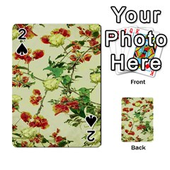 Vintage Style Floral Design Playing Cards 54 Designs