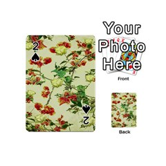 Vintage Style Floral Design Playing Cards 54 (Mini)