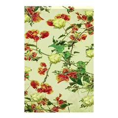 Vintage Style Floral Design Shower Curtain 48  x 72  (Small)