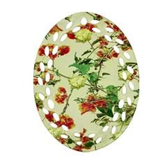 Vintage Style Floral Design Ornament (Oval Filigree)
