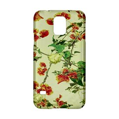 Vintage Style Floral Design Samsung Galaxy S5 Hardshell Case