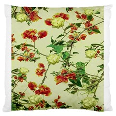 Vintage Style Floral Design Large Flano Cushion Cases (Two Sides)