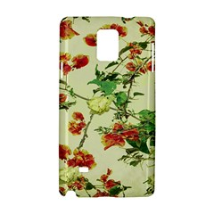 Vintage Style Floral Design Samsung Galaxy Note 4 Hardshell Case