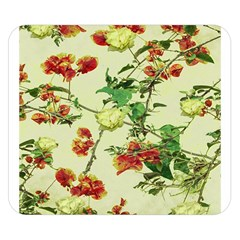 Vintage Style Floral Design Double Sided Flano Blanket (Small)