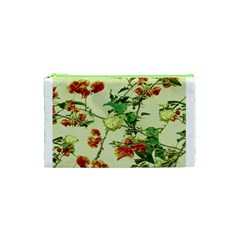 Vintage Style Floral Design Cosmetic Bag (xs)