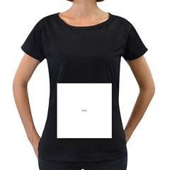 I USED TO CARE Women s Loose-Fit T-Shirt (Black)
