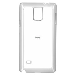 THINK LIKE A PROTON AND STAY POSITIVE Samsung Galaxy Note 4 Case (White)