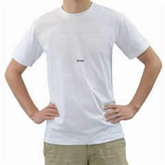 Fingerprint ID Men s T-Shirt (White) (Two Sided)