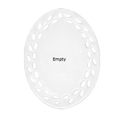Fingerprint ID Oval Filigree Ornament (2-Side)