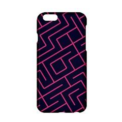 Pink blue maze Apple iPhone 6 Hardshell Case