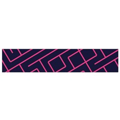 Pink blue maze Flano Scarf