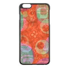 Fading shapes Apple iPhone 6 Plus Black Enamel Case