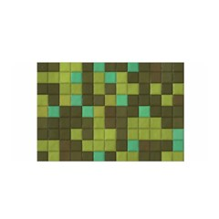 Green Tiles Pattern Satin Wrap