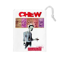 Chew Large Bag Drawstring Pouch (large)