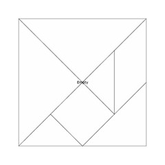 Atomic Structure Pattern Acrylic Tangram Puzzle (6  x 6 )