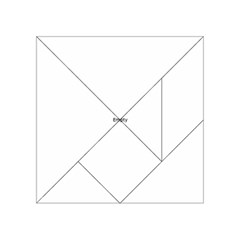 Atomic Structure Acrylic Tangram Puzzle (4  x 4 )
