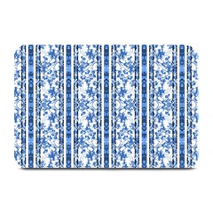 Chinoiserie Striped Floral Print Plate Mats