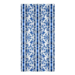 Chinoiserie Striped Floral Print Shower Curtain 36  X 72  (stall)