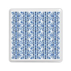Chinoiserie Striped Floral Print Memory Card Reader (Square)