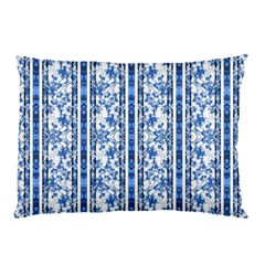 Chinoiserie Striped Floral Print Pillow Cases (Two Sides)