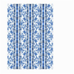 Chinoiserie Striped Floral Print Large Garden Flag (two Sides)