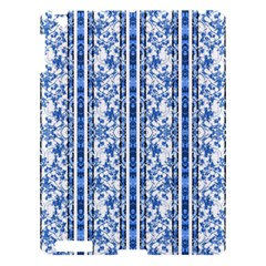 Chinoiserie Striped Floral Print Apple Ipad 3/4 Hardshell Case