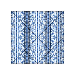 Chinoiserie Striped Floral Print Acrylic Tangram Puzzle (4  x 4 )