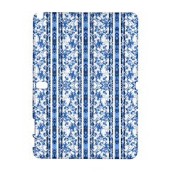 Chinoiserie Striped Floral Print Samsung Galaxy Note 10 1 (p600) Hardshell Case