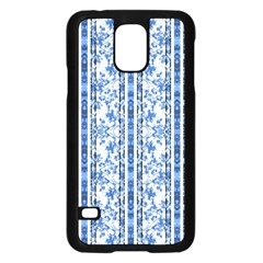Chinoiserie Striped Floral Print Samsung Galaxy S5 Case (Black)
