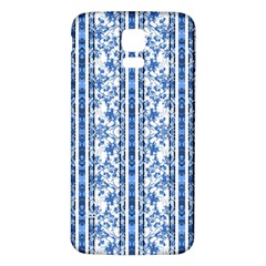 Chinoiserie Striped Floral Print Samsung Galaxy S5 Back Case (White)