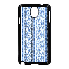 Chinoiserie Striped Floral Print Samsung Galaxy Note 3 Neo Hardshell Case (Black)