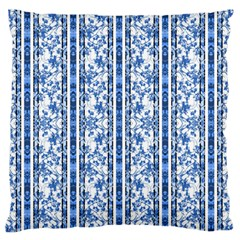 Chinoiserie Striped Floral Print Standard Flano Cushion Cases (One Side)
