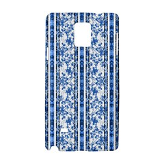 Chinoiserie Striped Floral Print Samsung Galaxy Note 4 Hardshell Case