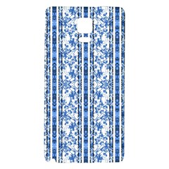 Chinoiserie Striped Floral Print Galaxy Note 4 Back Case