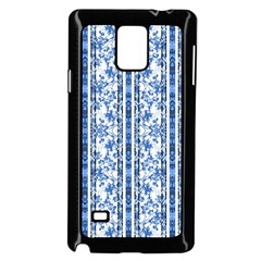 Chinoiserie Striped Floral Print Samsung Galaxy Note 4 Case (black)