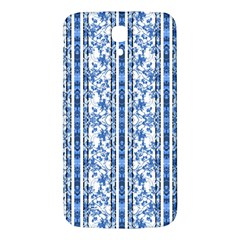 Chinoiserie Striped Floral Print Samsung Galaxy Mega I9200 Hardshell Back Case