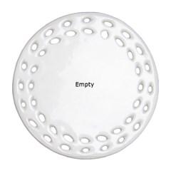 Petri Dishes Multi Coloured Round Filigree Ornament (2Side)