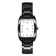 Life Lines Stainless Steel Barrel Watch