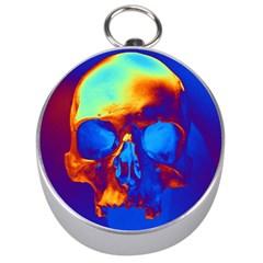 Skull Silver Compasses