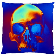 Skull Large Flano Cushion Cases (One Side)
