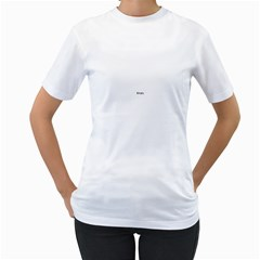 USA Hearts Flag Women s T-Shirt (White) (Two Sided)